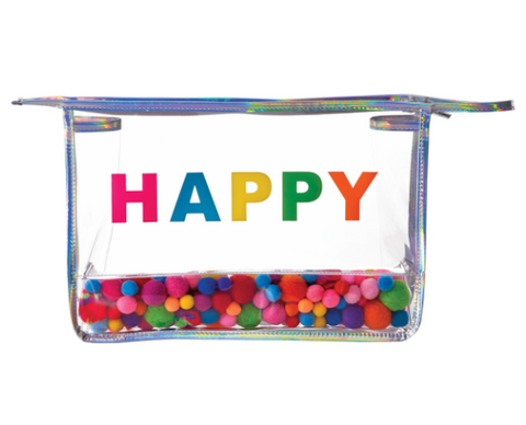 Happy Pom Pom Travel Bag
