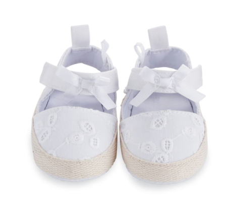 White Eyelet Pre-Walker Shoes