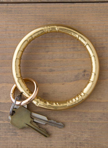 Metallic Gold Bracelet Key Chain
