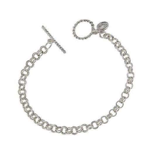 Jane Marie Double Chain Toggle Bracelet, Antique Silver or Antique Gold