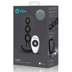 b-Vibe Remote Triplet Anal Beads - Black,Beads & balls,Top Sex Store