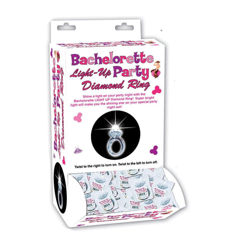 Bachelorette Light-Up Party Diamond Ring - 24 Piece Display,Bachelorrette,Top Sex Store