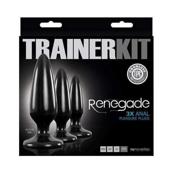 NS Novelties Renegade Pleasure Plug Trainer Kit - Black,Kits & combos,Top Sex Store