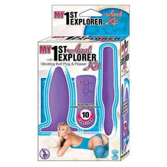My 1st Anal Explorer Kit Vibrating Butt Plug and Please - Purple,Kits & combos,Top Sex Store