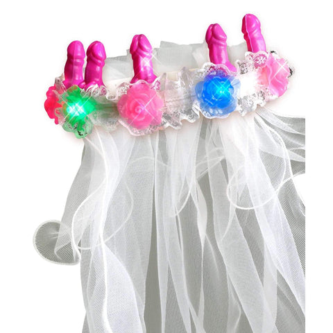 Bachelorette Party Favors Light-Up Pecker Veil,Bachelorrette,Top Sex Store