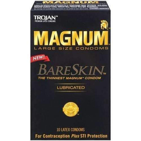 Trojan Magnum Bareskin Large Size Condoms - 10 Pack,10 packs,Top Sex Store