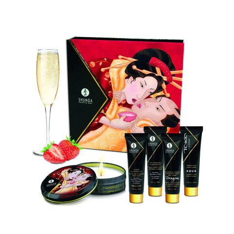 Geisha's Secrets Gift Set - Sparkling Strawberry  Wine,Bath gift sets,Top Sex Store