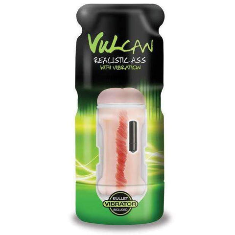 Cyberskin Vulcan Realistic Ass w/Vibration - Cream,Anal masturbators,Top Sex Store