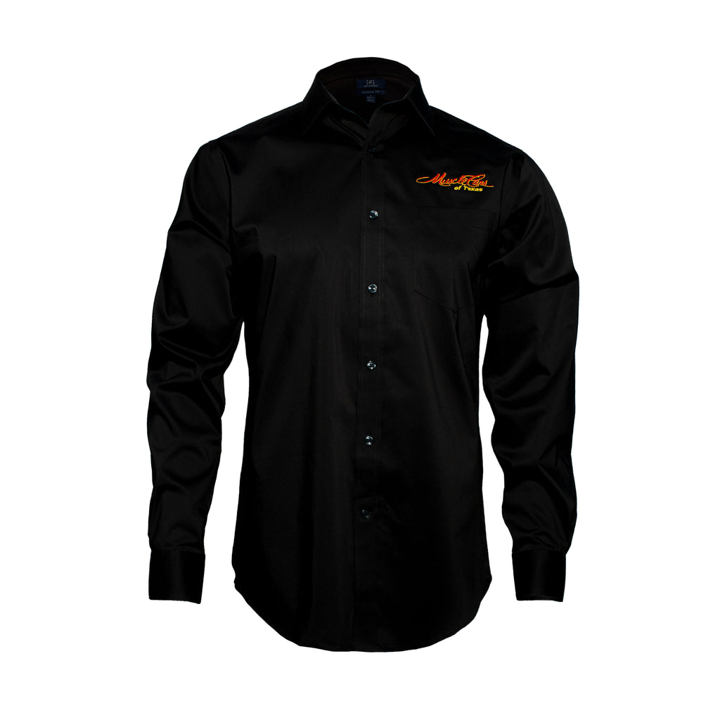 Embroidered Long Sleeve Performance Dress Shirt
