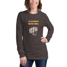 Load image into Gallery viewer, It Starts with You Long Sleeve Tee - Youth Revive Apparel