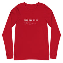 Load image into Gallery viewer, Community Defined Long Sleeve Tee - Youth Revive Apparel