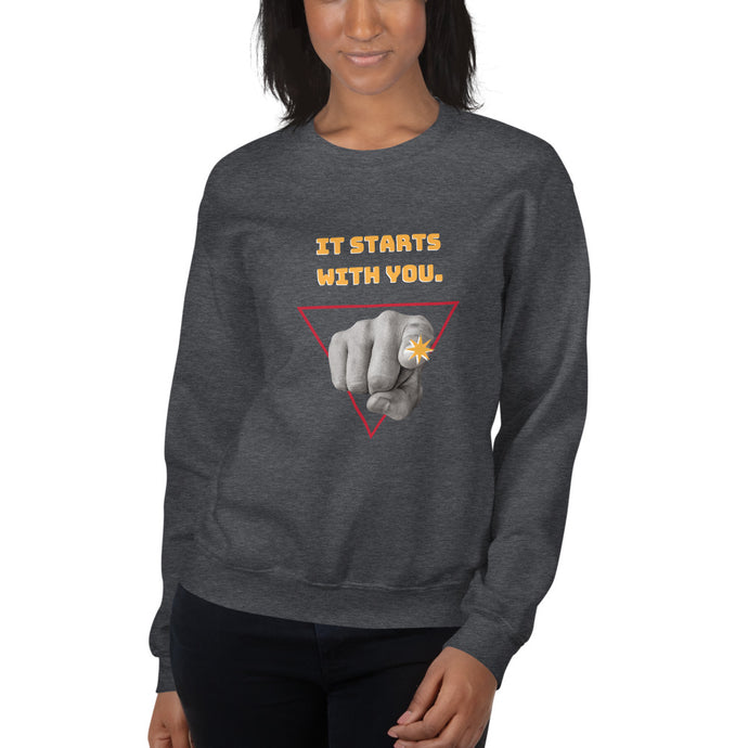 It Starts with You Sweatshirt - Youth Revive Apparel