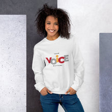 Load image into Gallery viewer, Your Voice Matters Sweatshirt - Youth Revive Apparel