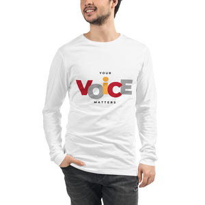 Your Voice Matters Long Sleeve Tee - Youth Revive Apparel