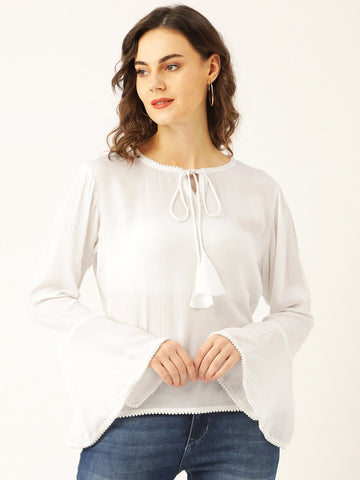 Semi Sheer Solid Top - Marc Loire