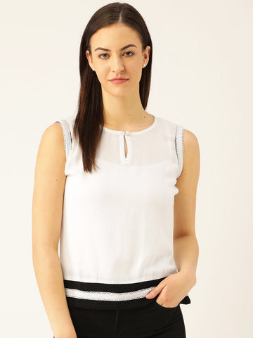 White Solid Top - Marc Loire