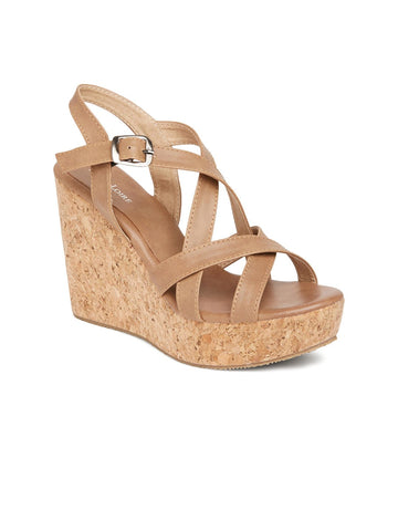 Strappy Platform Wedges - Marc Loire