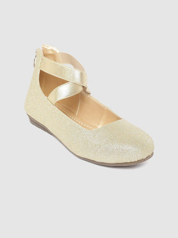 Gold Mid-Top Ballerinas - Marc Loire