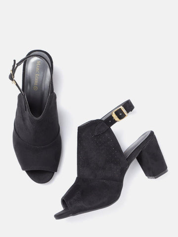 Black Heeled Mules - Marc Loire