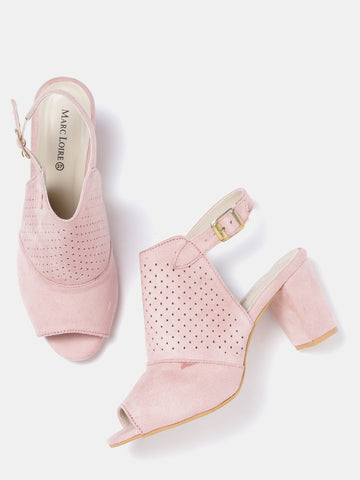 Pink Heeled Mules - Marc Loire