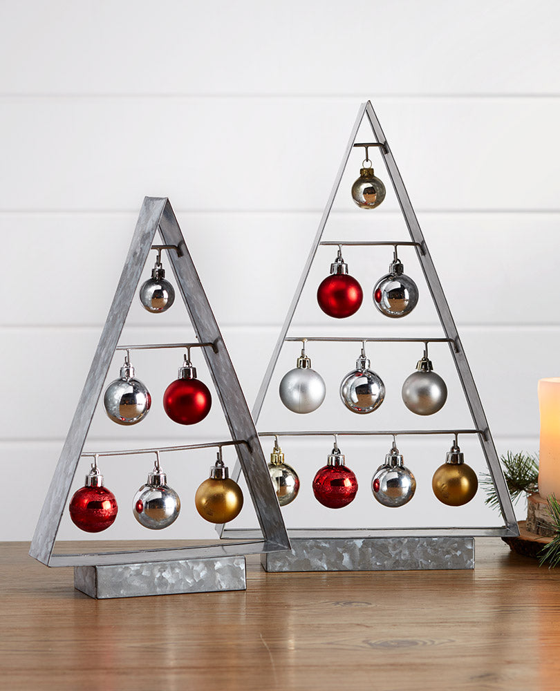 Galvanized Metal Ornament Trees