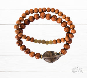 Grounding Smoky Quartz Gemstone Essential Diffuser Bracelet