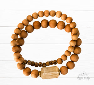Happiness Citrine Gemstone Essential Oil Diffuser Bracelet for Women