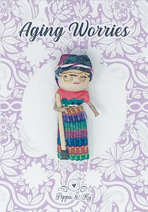 "Guatemalan ""Aging Worries"" Worry Doll"