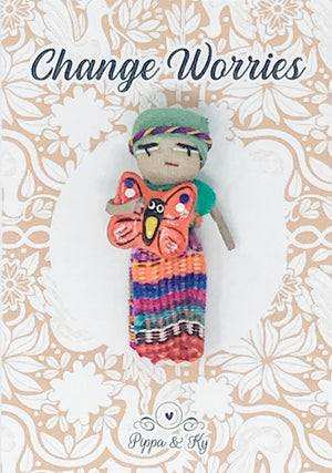 "Guatemalan ""Change Worries"" Worry Doll"