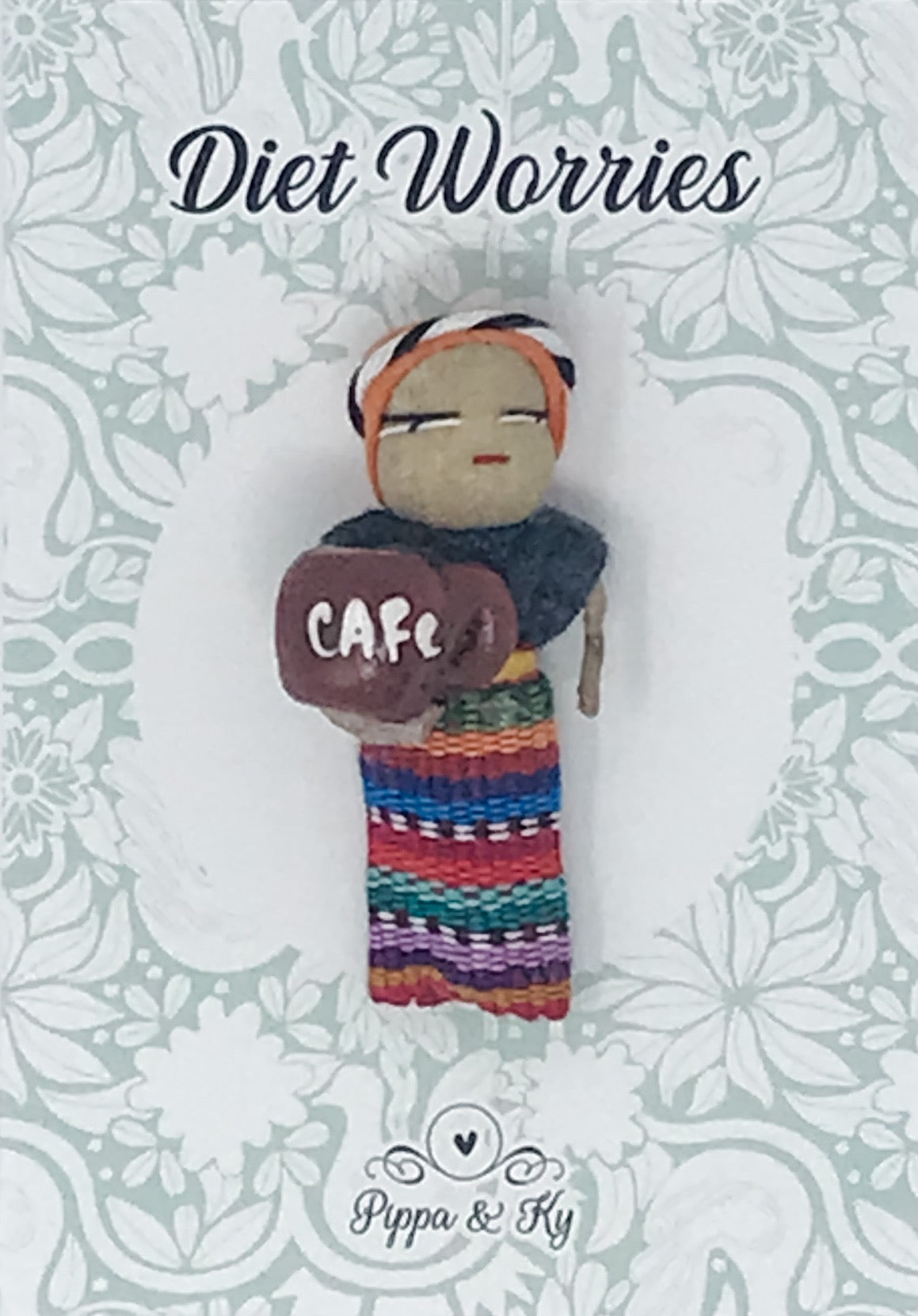 "Guatemalan ""Diet Worries"" Worry Doll"