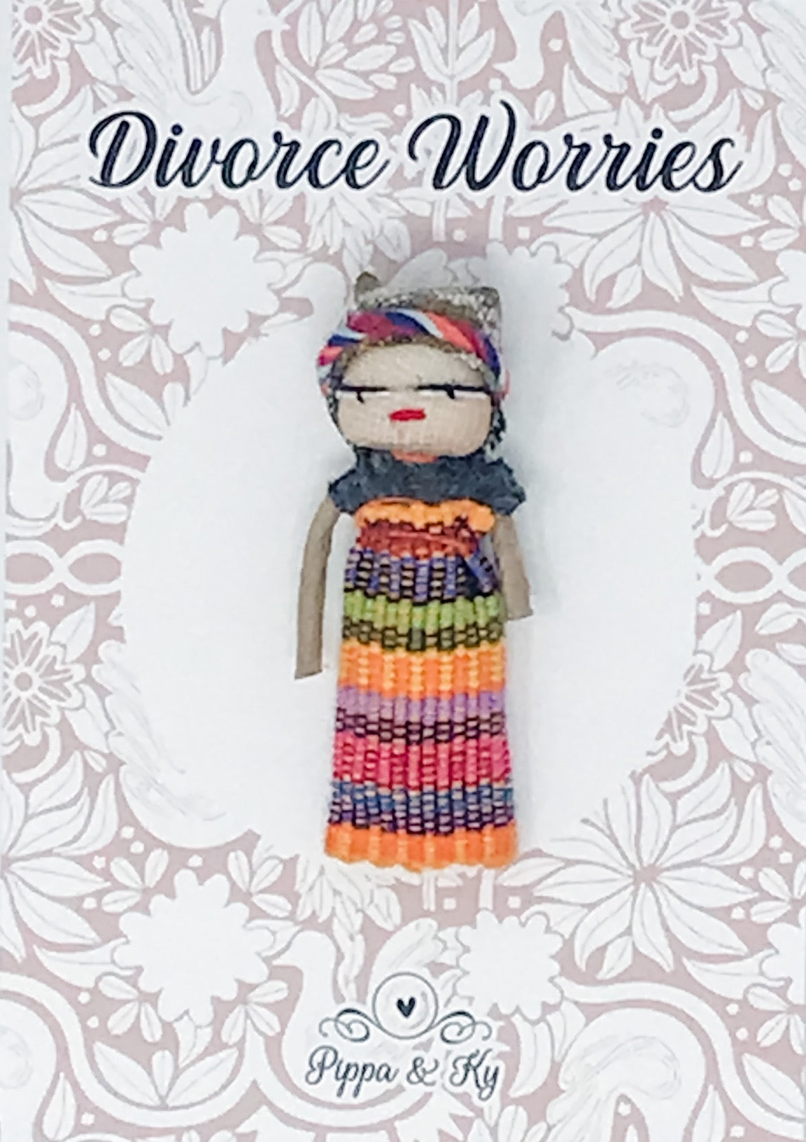 "Guatemalan ""Divorce Worries"" Worry Doll"