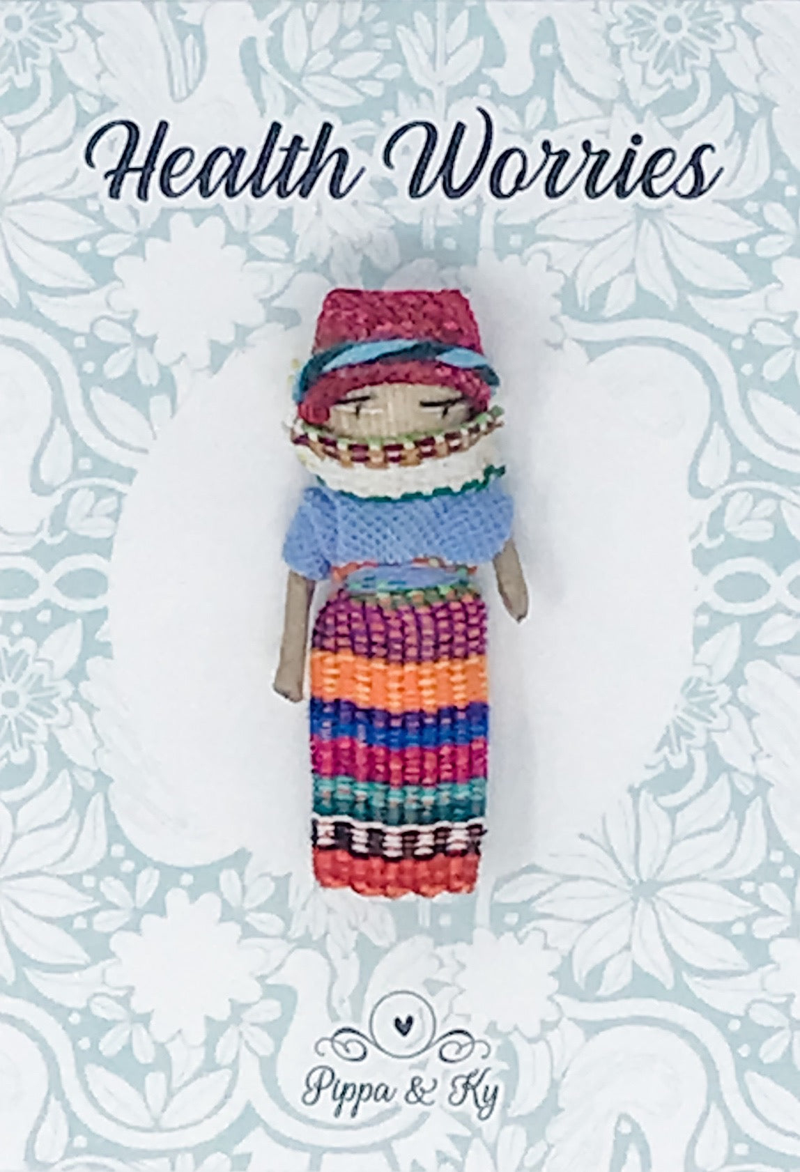 "Guatemalan "" Health Worries"" Worry Doll"