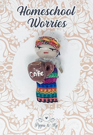 "Guatemalan ""Homeschool Worries"" Worry Doll"