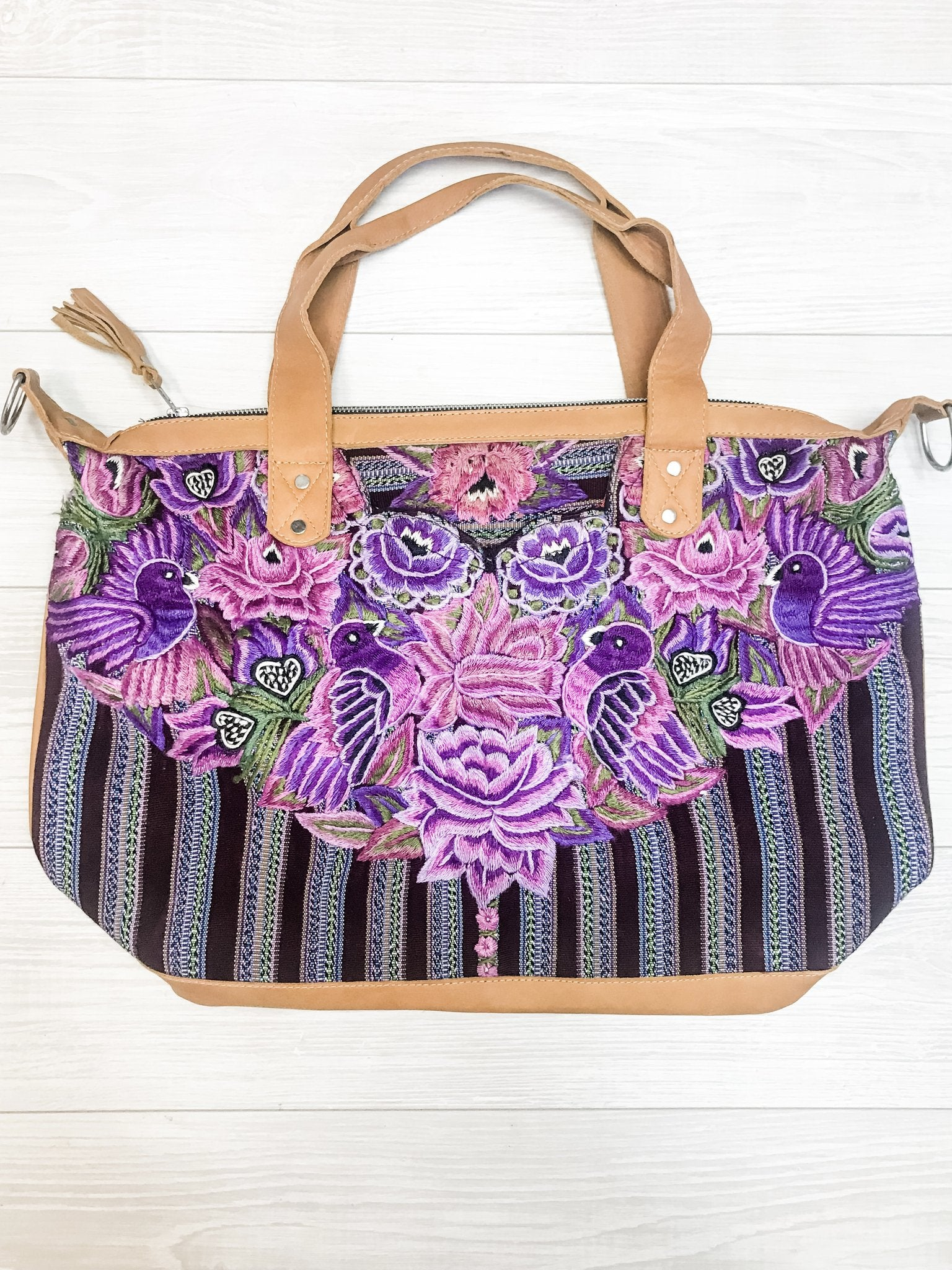 Huipil Floral and Bird  Convertible Bag