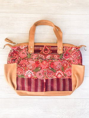Floral Huipil Convertible Backpack