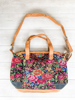 Floral Huipil Convertible Bag