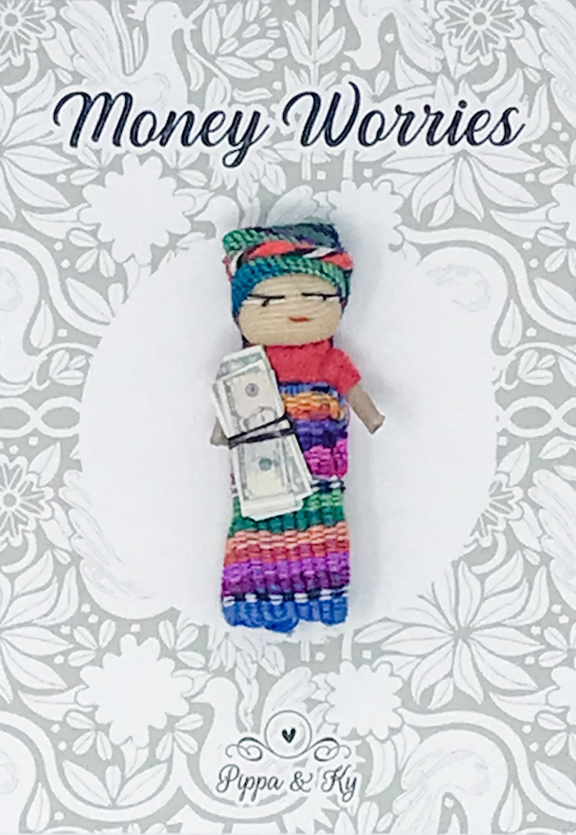 "Guatemalan ""Money Worries"" Worry Doll"