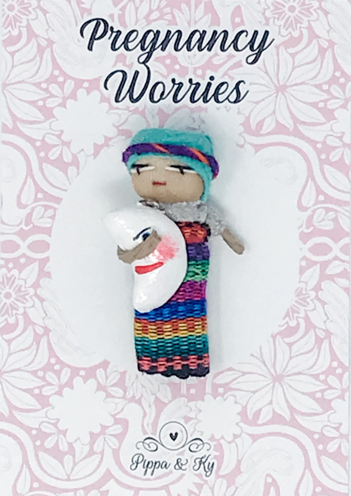 "Guatemalan ""Pregnancy Worries"" Worry Doll"