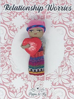 "Guatemalan ""Relationship Worries"" Worry Doll"