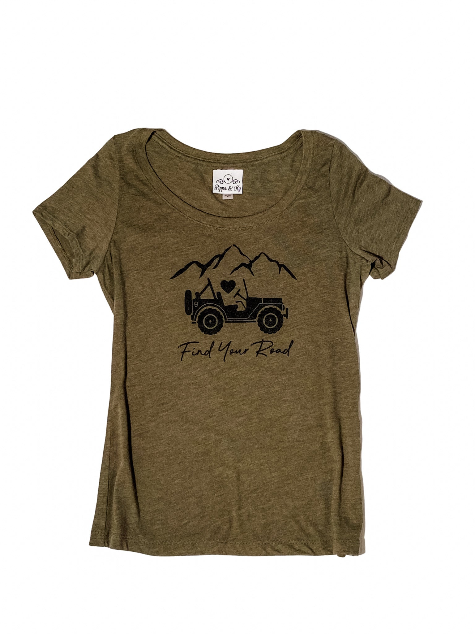 Find Your Road Olive T-Shirt
