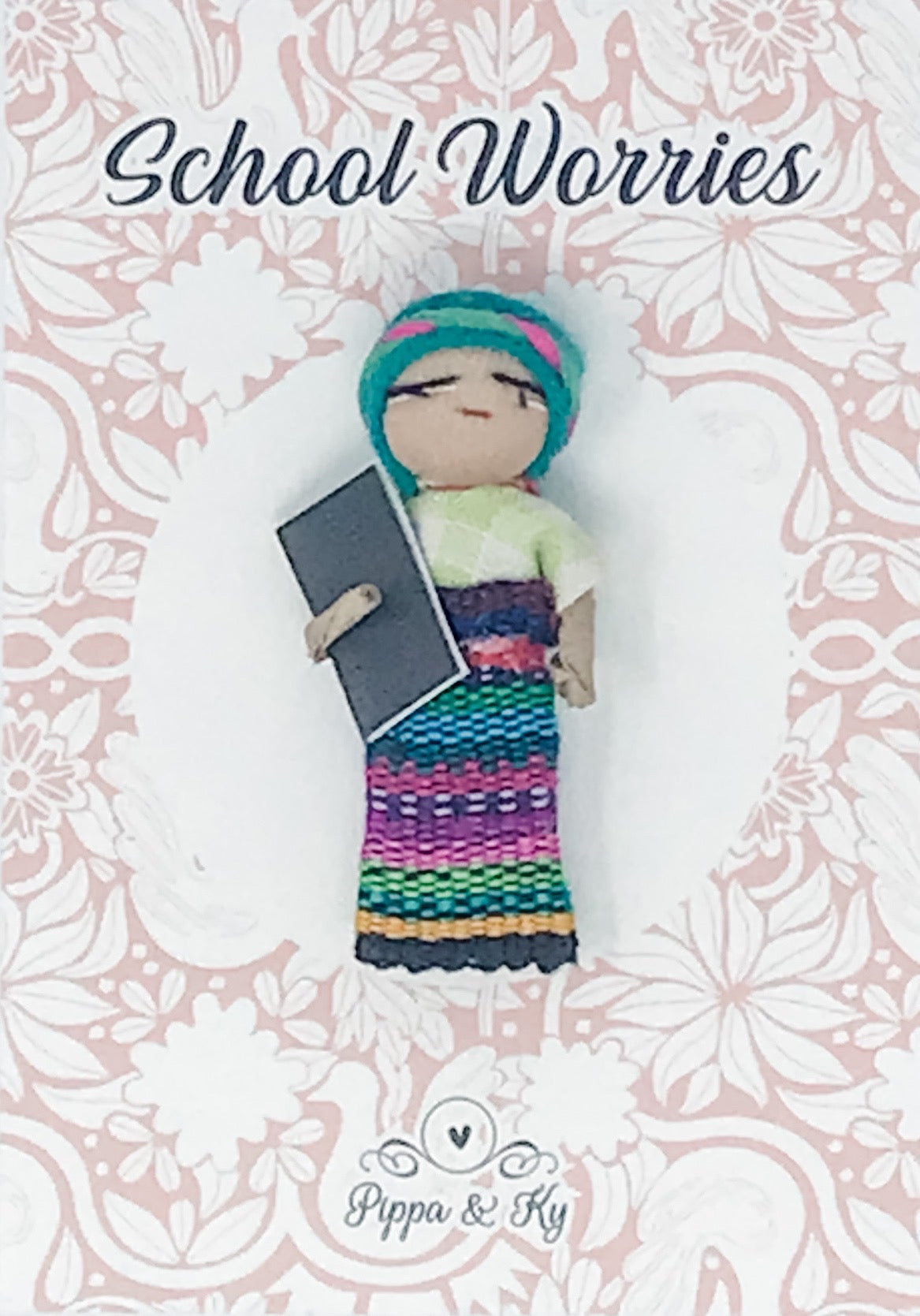 "Guatemalan ""School Worries"" Worry Doll"