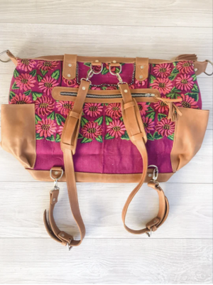 Huipil Flowers Convertible Backpack