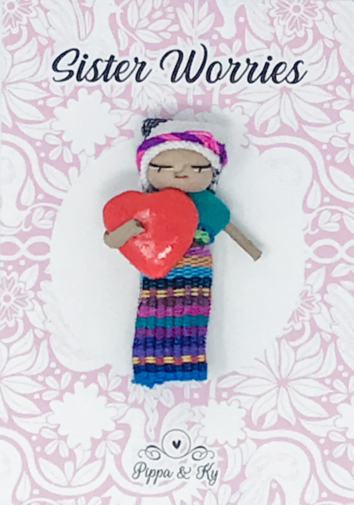 "Guatemalan ""Sister Worries"" Worry Doll"