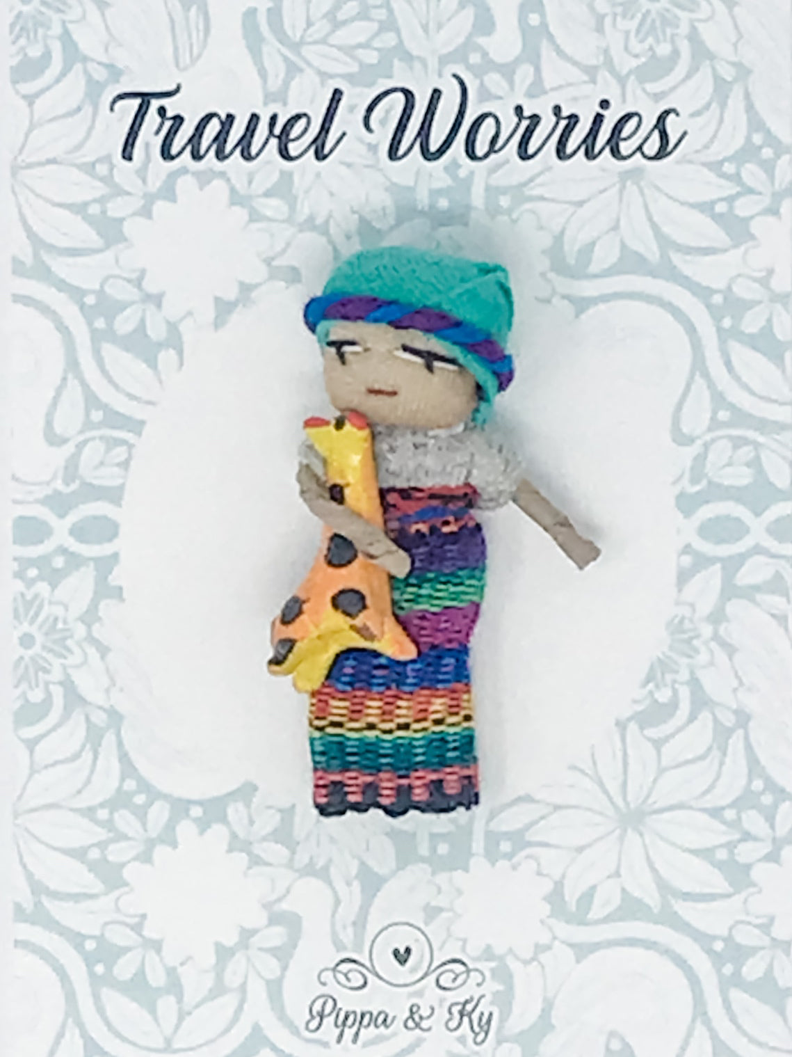 "Guatemalan  ""Travel Worries"" Worry Doll"