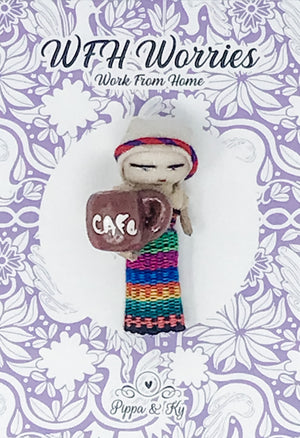 "Guatemalan ""WFH"" Worries Worry Doll"
