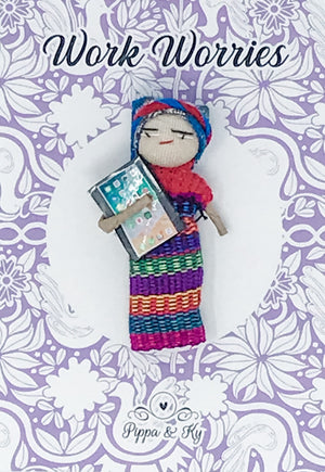 "Guatemalan ""Work Worries"" Worry Doll"