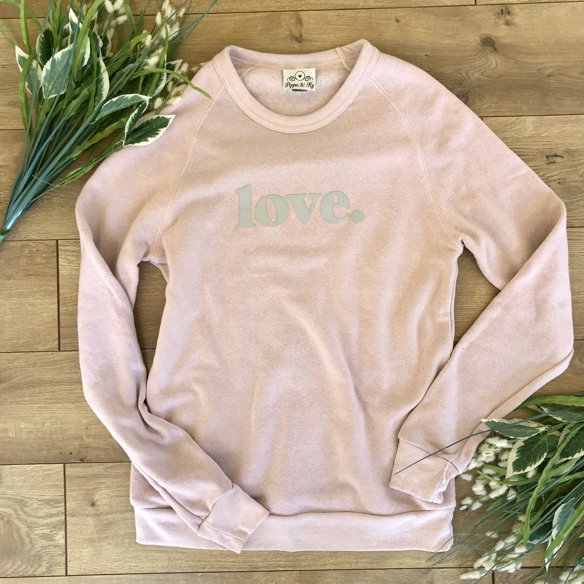 Love Pullover Sweatshirt Light Pink - Sweatshirt