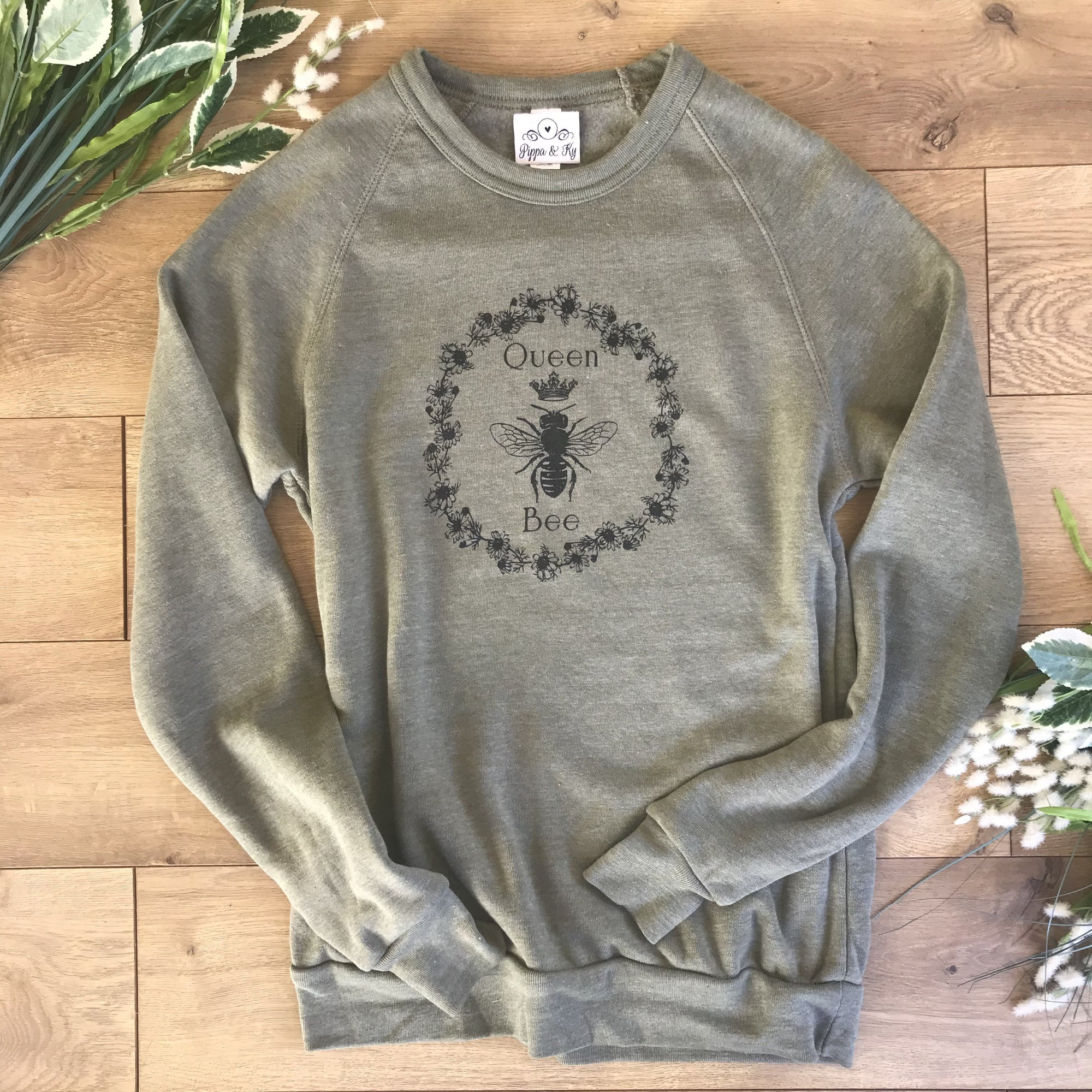 Loungewear Sweatshirt Queen Olive