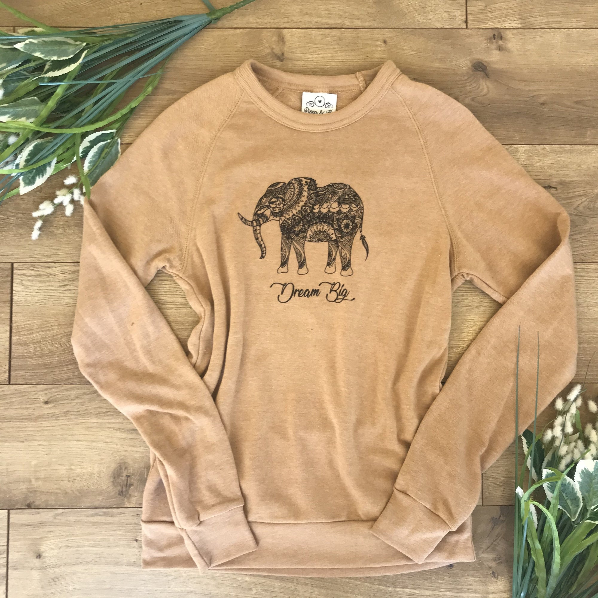 Dream Big Mustard Pullover Sweatshirt - Sweatshirt