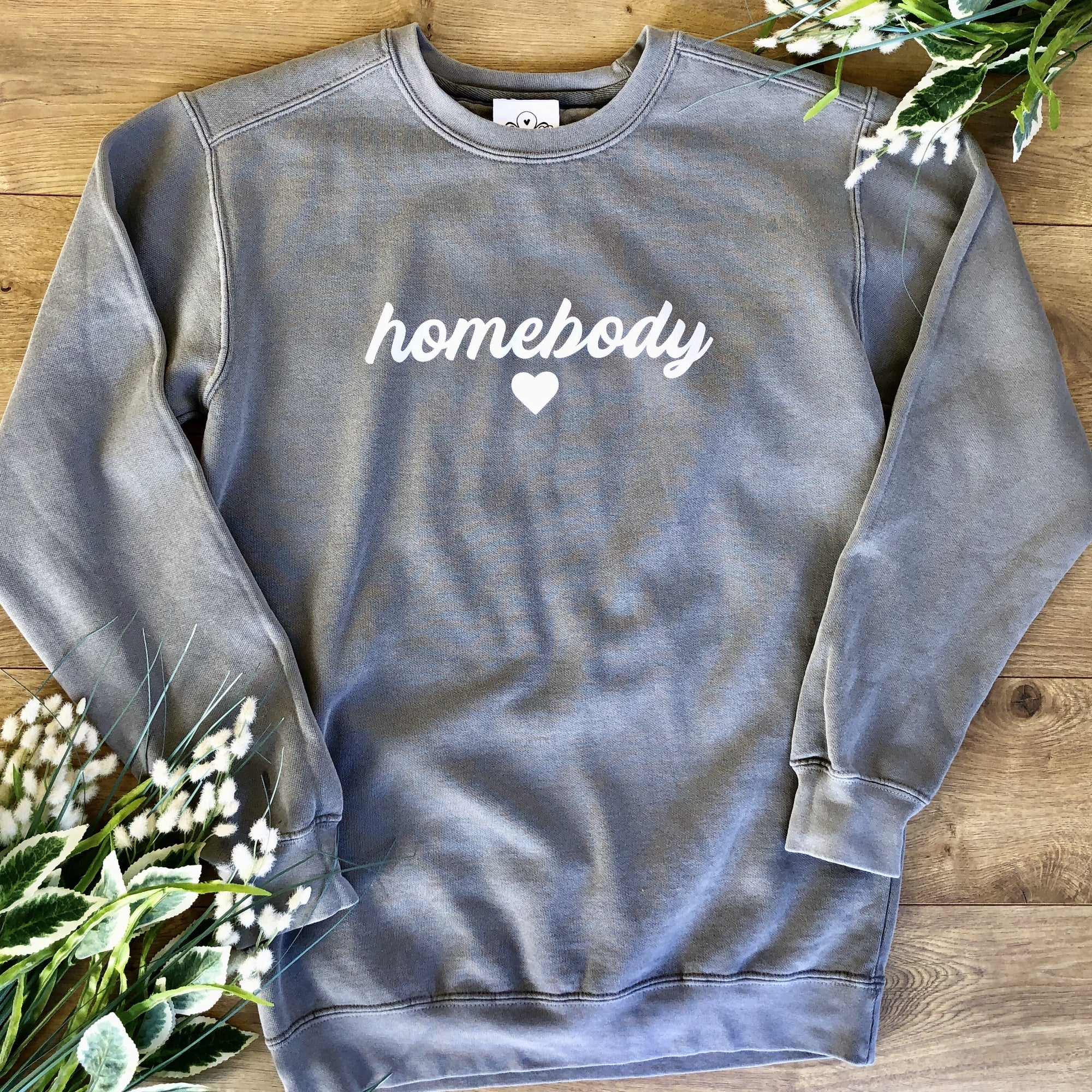 Loungewear Sweatshirt Homebody Grey